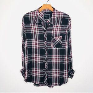Rails Tops - Rails Soft Plaid Flannel Checkered Button Up A1
